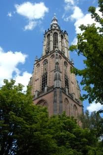 Amersfoort, Lange Jan, Onze lieve vrouw, plein, kerk, bomen